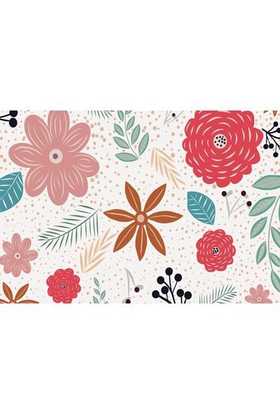 Elf Karışık Çiçek Desenli Amerikan Servisi 4'lü