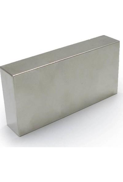 Dünya Magnet Mıknatıs 80 x 40 x 20 mm Çok Güçlü Neodyum Mıknatıs