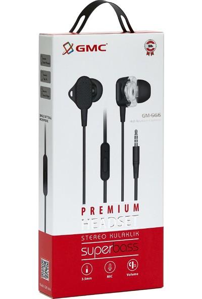 GMC Premium Stereo Super Bass Kulaklık Siyah
