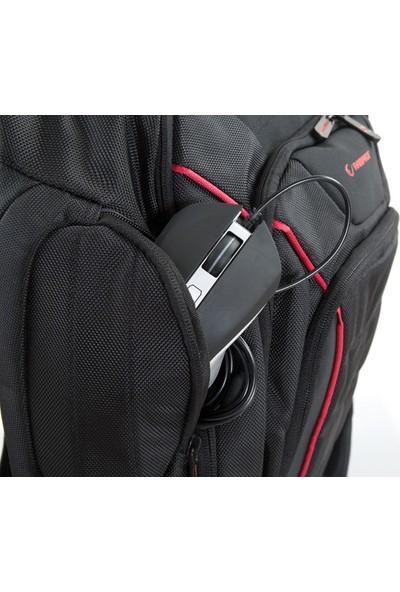 """Rampage 301006 15.6"""" Siyah/Kırmızı Çok Fonksiyonlu Oyuncu Notebook Sırt Çantası"""