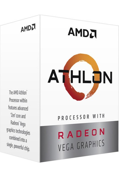 AMD Athlon 3000G 3.5GHz AM4 4MB Cache İşlemci YD3000C6FHBOX