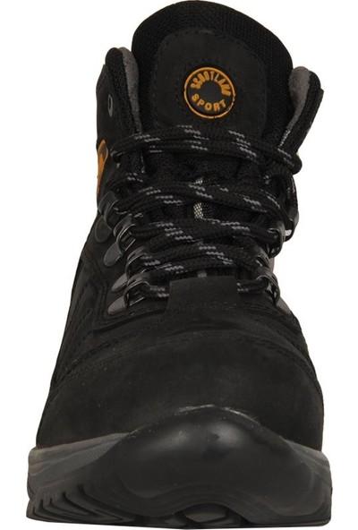 Scootland 1516 Siyah Deri Tracking Erkek Bot Ayakkabı