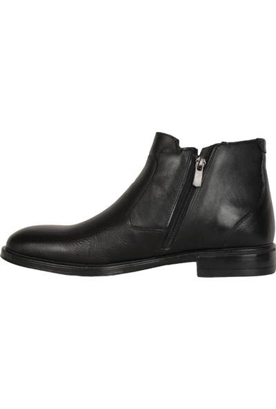 Pierre Cardin 1195865 Siyah Deri Bağsız Erkek Bot Ayakkabı