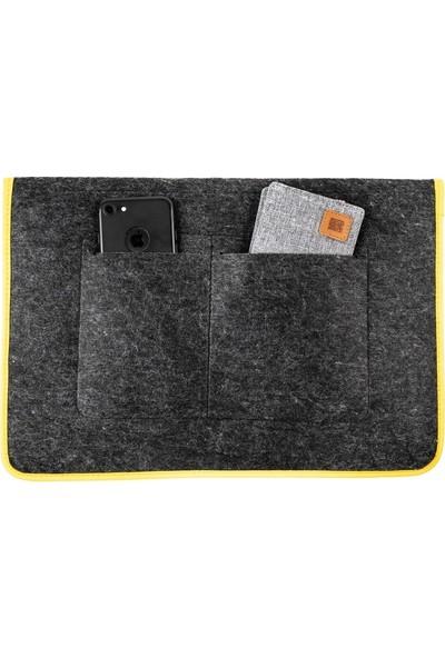 Minbag Aba Keçe Laptop Çantası Ve El Portföyü - Gri
