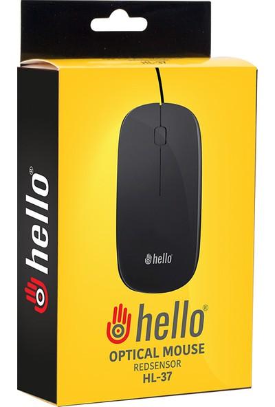 Hello Hl-37 Slim 1000 DPI Kablolu Optik Mouse
