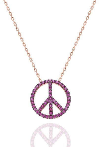 Modaincisi Gümüş Barış Kolye