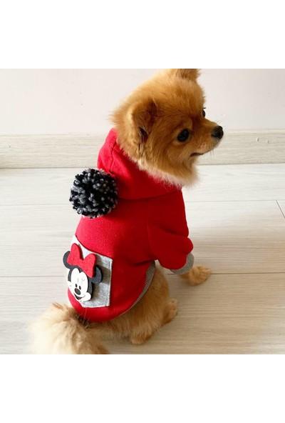 Kemique Atheletique Sevimli Fare Kırmızı Köpek Süeteri Köpek Kıyafet Elbise