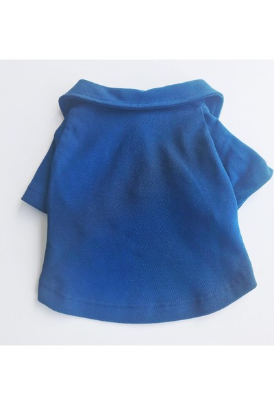 Kemique Navy Blue Polo Yaka Tişört Kedi Kıyafeti Kedi Elbisesi
