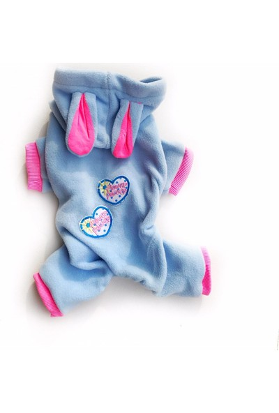 Kemique Power Hearts Blue Kedi Tulumu Kedi Kıyafeti