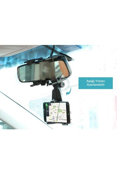 Oto Aksesuarcım Dikiz Aynası Telefon Navigasyon Tutucu