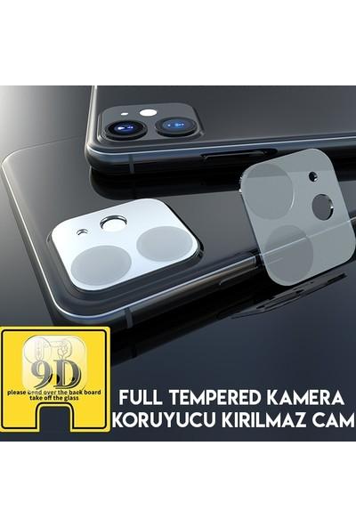 """Ally Ak-31491 Apple iPhone 11 6.1"""" 2019 Full Tempered Kamera Koruyucu Kırılmaz Cam"""
