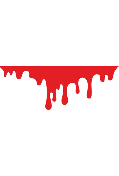 Oto Aksesuarcım Kan Damlası Oto Sticker 22 x 8 cm
