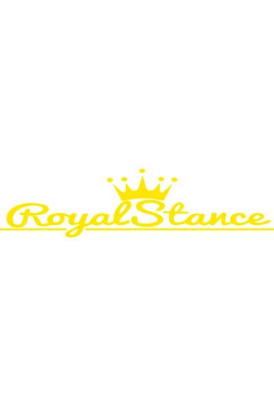 Oto Aksesuarcım Royal Stance Oto Sticker Sarı 40 x 10 cm