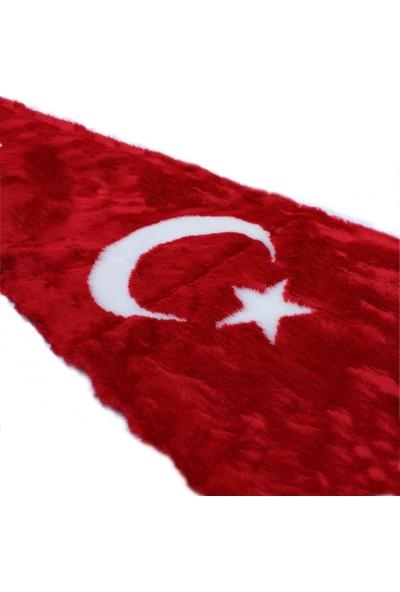 Oto Aksesuarcım Türk Bayraklı Torpido Pandizot Üstü Peluş Halı