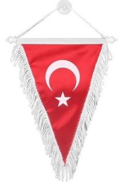 Oto Aksesuarcım Üçgen Bez Türk Bayrağı Küçük 18 x 22 cm