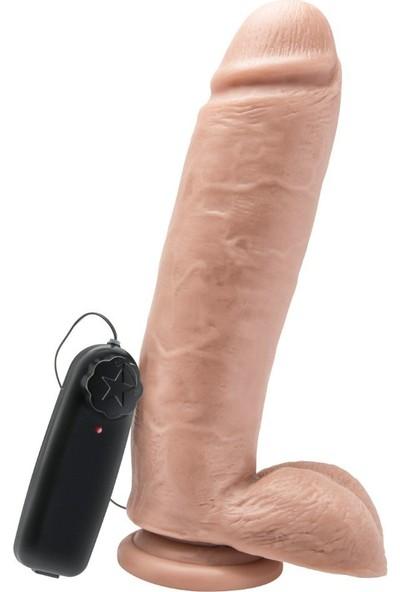 Toyjoy 25 cm Kalın Titreşimli Realistik Büyük Boy Penis Vibratör