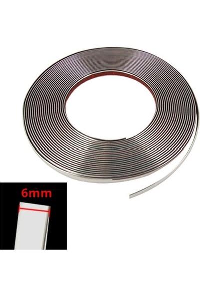 Oto Aksesuarcım Krom Nikelaj Şerit 6 mm 3 mt