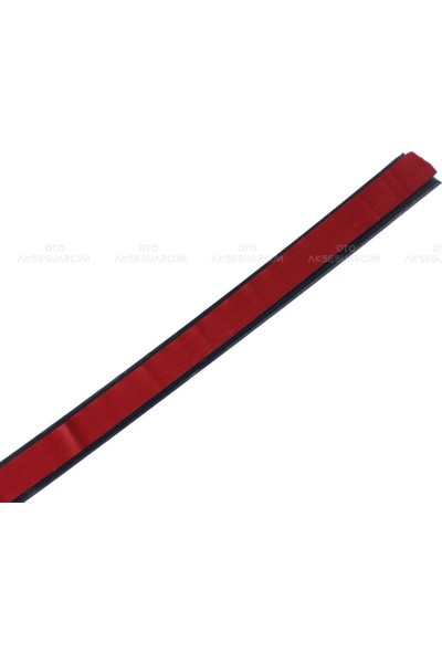 Oto Aksesuarcım Kırmızı Yapışkanlı Nikelaj Tampon Panjur Şeridi 9 mm 5 mt