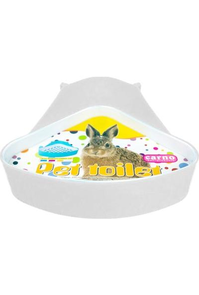 Carno Tavşan Tuvaleti Üçgen 24X18,5X11Cm Beyaz