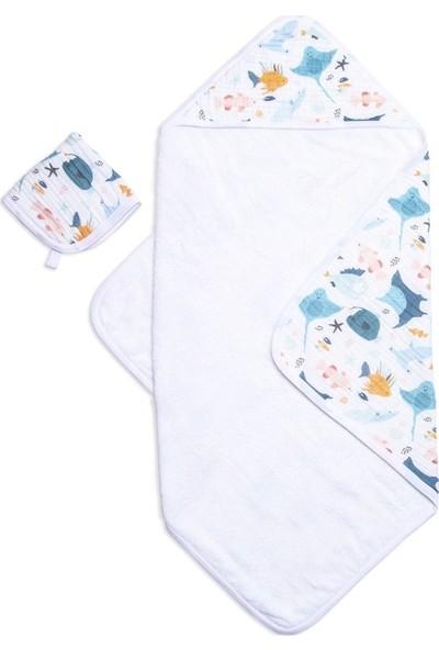 Funna Baby Muslin Havlu Seti - Atlantico - 75x7530x30