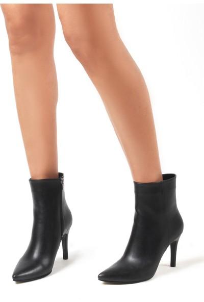 Gökhan Talay Steal Siyah Deri Topuklu Kadın Bot