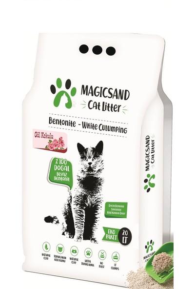 Magicsand Cat Litter Gül Kokulu Kedi Kumu 20 l