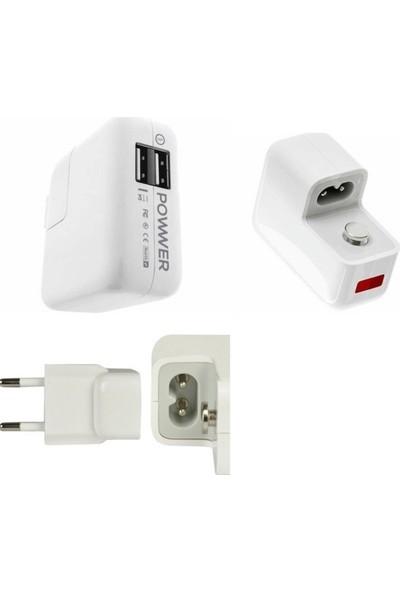 Ijoy Powwer Evrensel Çift USB Bağlantı Noktası 3.1A 15.5W Tablet Sarj Cihazı