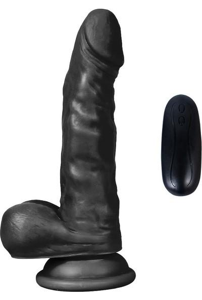 Xise 10 Titreşimli 17 cm Siyah Vibratör Realistik Gerçekçi Penis Dildo