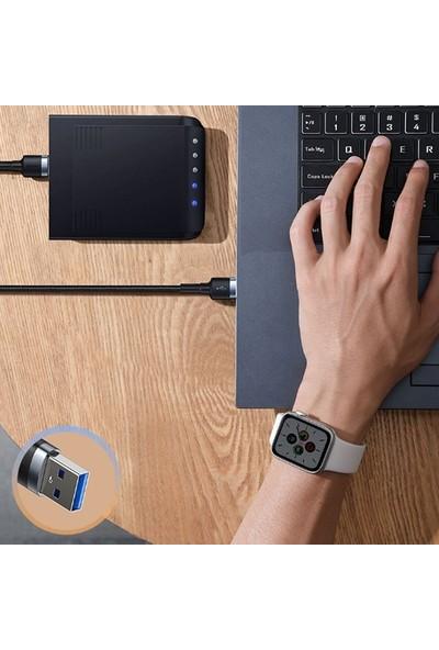 Baseus 1M CADKLF-C0G Cafule Kablo USB 3.0 Male to USB3.0 Male 2A İki Ucu USB Erkek Kablo