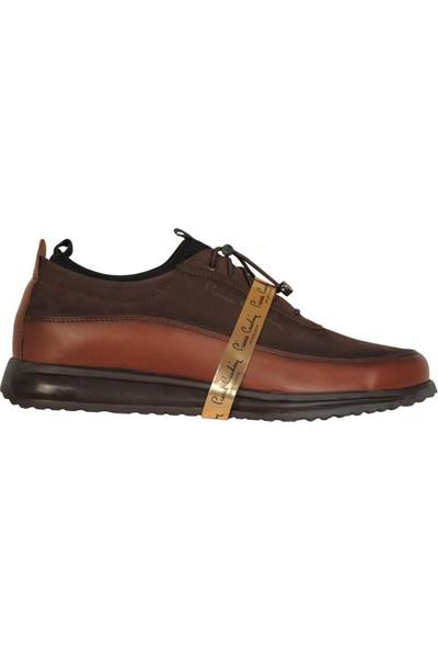 Pierre Cardin 5259 Taba %100 Deri Erkek Sneaker Spor Ayakkabı