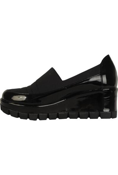Olympos Günlük Streçli Kadın 5,5Cm Dolgu Topuk Ayakkabı