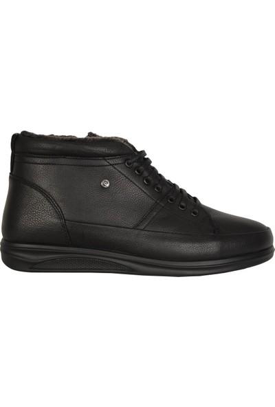 Pierre Cardin 13011 Siyah Deri İçi Kürklü Erkek Bot Ayakkabı