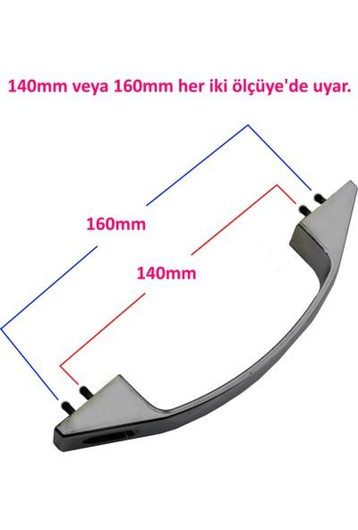 Seta 2 Kapaklık Krom Duşakabin Kulpu 140 mm ve 160 mm Ölçülerine Uygun 2 Iç 2 Dış Çift Kapak D Kulp