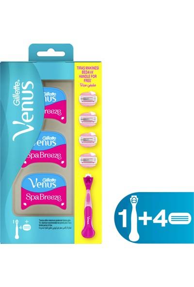Gillette Venüs Comfortglide Spa Breeze Kadın Tıraş Makinesi + 4 Yedek Tıraş Bıçağı