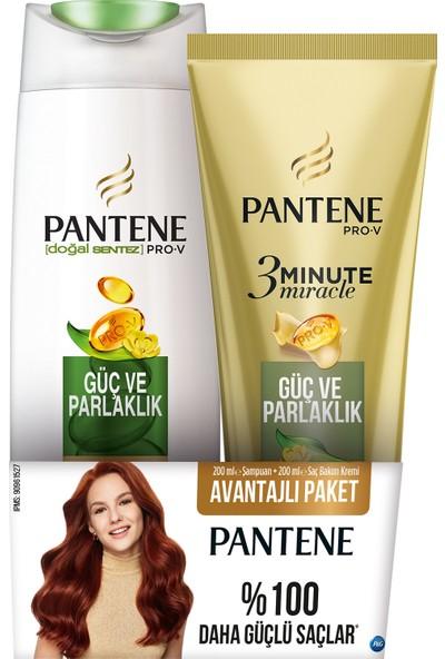 Pantene Güç Ve Parlaklık 200 Ml Şampuan + 3 Minute Miracle Saç Bakım Kremi 200 Ml Güç Ve Parlaklık