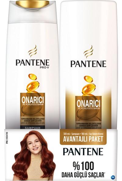 Pantene Onarıcı & Koruyucu 300 Ml Şampuan + 180 Ml Saç Bakım Kremi