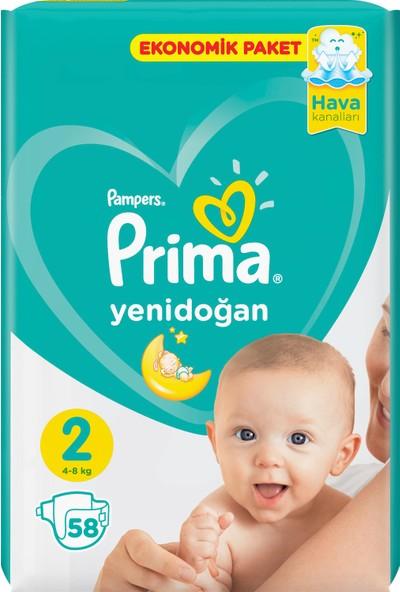 Prima Bebek Bezi Yeni Bebek 2 Beden 58 Adet Mini Ekonomik Paket