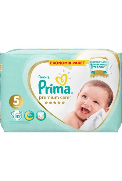 Prima Bebek Bezi Premium Care 5 Beden 42 Adet Junior Jumbo Paket