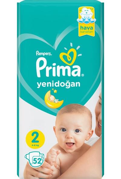 Prima Bebek Bezi Yeni Bebek 2 Beden 52 Adet Mini İkiz Plus Paket
