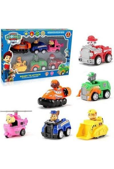 Kids Paw Patrol 6 Araçlı Figürlü Set