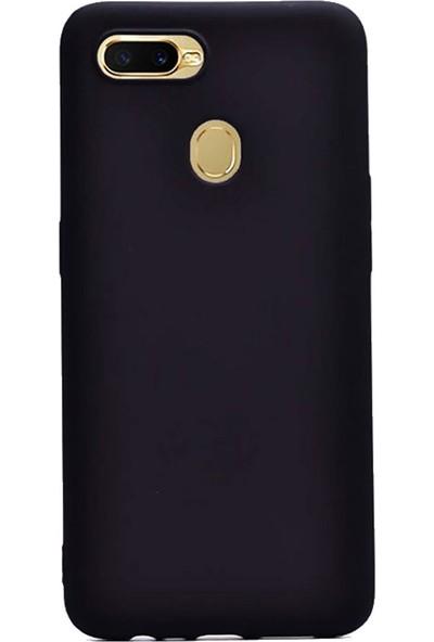 Microcase Oppo A5s Premium Matte Silikon Kılıf - Siyah