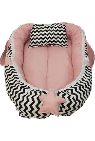 Baskaya Babynest Bebek Uyku Yatağı ve Yastağı %100 Pamuk