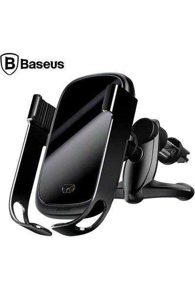 Baseus Rock-Solid Tam Otomatik 10W Wireless Kablosuz Araç Şarj Tutucu WXHW01-01