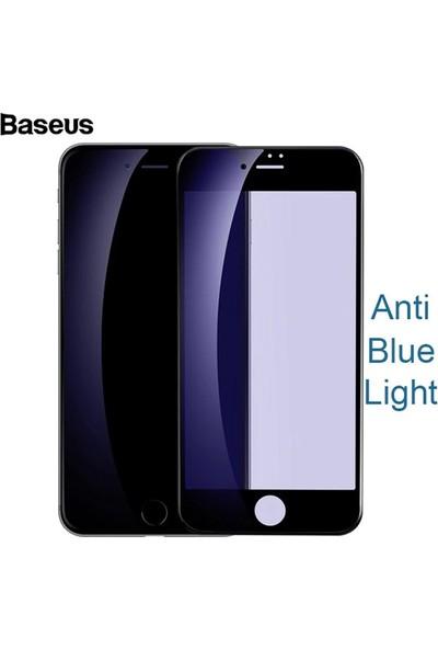 Baseus SGAPIPH8N-TES01 iPhone 7 Plus/8 Plus 3D Anti Blue Light Full Cam Ekran Koruyucu - Siyah