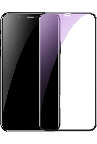 Baseus SGAPIPH65-HE01 iPhone XS Max 0.20 mm Anti Blue Ray Tam Ekran Koruyucu - Siyah