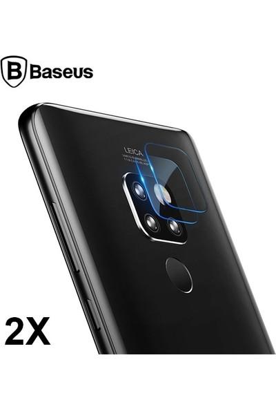 Baseus SGHWMATE20-JT02 Huawei Mate 20 Tempered Kamera Koruyucu 2 Adet Set