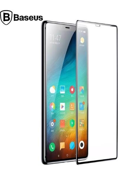 Baseus SGMIM8SE-TM01 Xiaomi Mi 8Se 3D Kavisli Full Kaplama Cam Ekran Koruyucu - Siyah