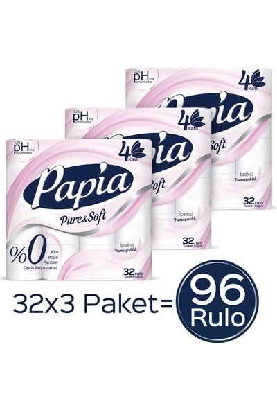 Papia Pure & Soft Tuvalet Kağıdı 96 Rulo
