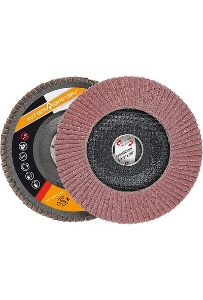 Interflex Alüminyum Oksit Ac 721 Alo Flap Disk Zımpara 40 Kum 115 mm Çap 20 Adet