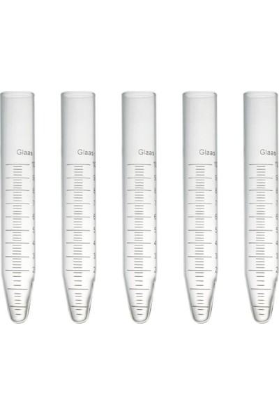 Castimolab Deney Tüpü Dibi Konik Santrifüj Için Dereceli 16 x 100 mm 5 Adet